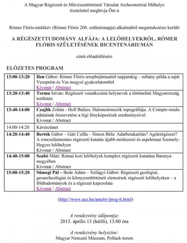 A Magyar Régészeti és Mûvészettörténeti Társulat Archeometriai M