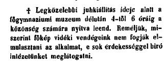GYK_18600524-4-42_muzeum_nyitva_kivagott