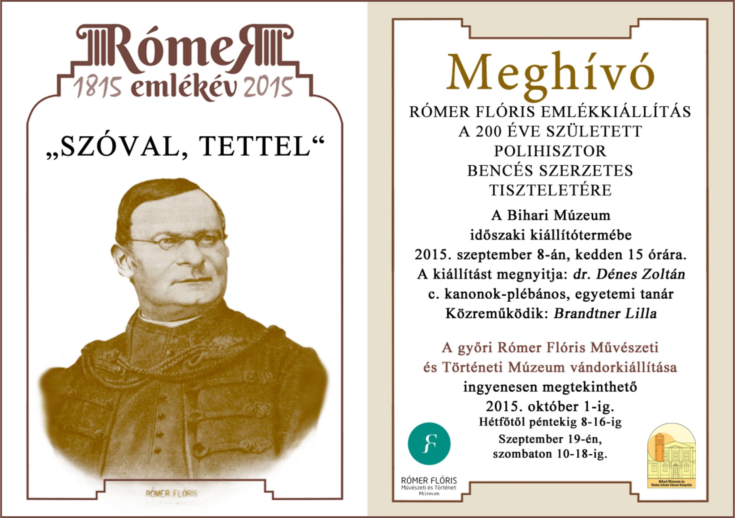 Romer Floris  emlekiallitas Berettyoujfaluban